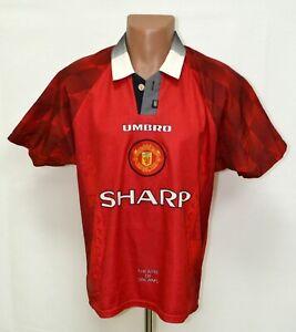 Manchester-United-1996-1997-1998-Calcio-Casa-maglietta-jersey-Umbro-taglia-M-adulto