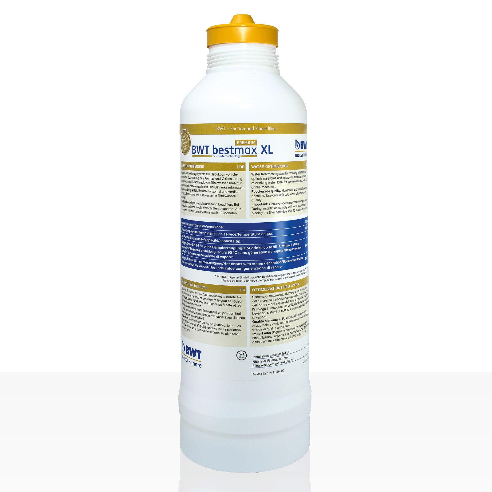 Bestmax XL Premium Filtre Bougie, BWT Water + More Filtre à Eau, environ 4300 l