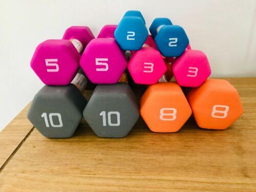 Neoprene Rubber DUMBBELL WEIGHTS KETTLEBELL 2 3 5 8 10 15 20 25 35 Lb