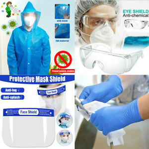 EVA Protective Raincoat Clothing Suit /Diaposable Gloves /Safety Shield /Goggles