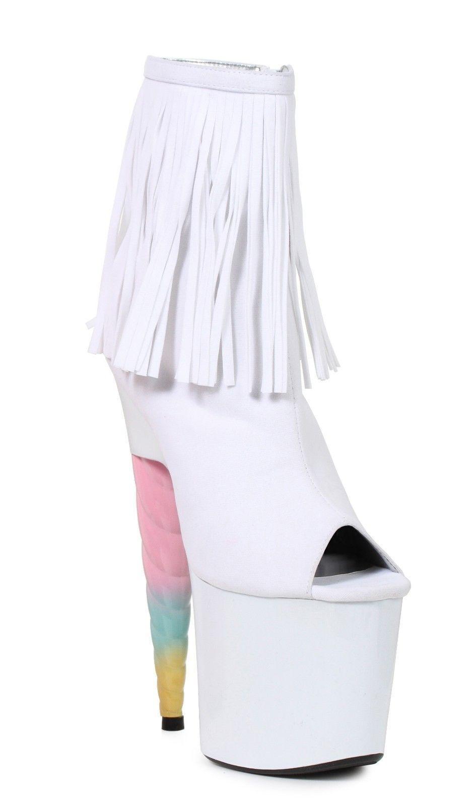 7  Weiß Unicorn Heels My Little Pony schuhe Cosplay Cosplay schuhe Costume Heels Stripper Stiefel a65200