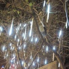 30cm 144 LED Lights 8 Tubes Meteor Shower Rain Snowfall Tree Garden XMAS Outdoor