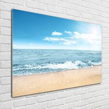 Glas-Bild Wandbilder Druck auf Glas 140x70 Deko Landschaften Eingang zum Strand