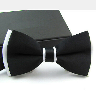 1PC Men's Bowtie Wedding Party Adjustable Double Colors Necktie Suits Tuxedos