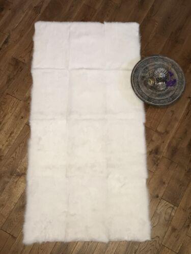 vêtements Couvertures Luxe Véritable Fourrure de Lapin plaque 120 cm x 60 cm Bronzé pour jette