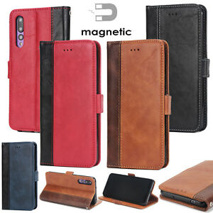 Luxe-Cuir-Flip-Case-Coques-Portefeuill-Housse-Pour-iPhone-Samsung-S10-Huawei-P20