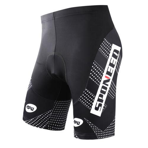 Mens Riding Bike Shorts High Elastic Band Biking Clothing Non-slip Bike Knickers