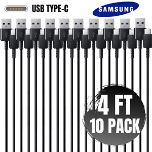 Lot OF 10X USB C Fast Charge Cable Type C Data Sync Cord For Samsung Android LG
