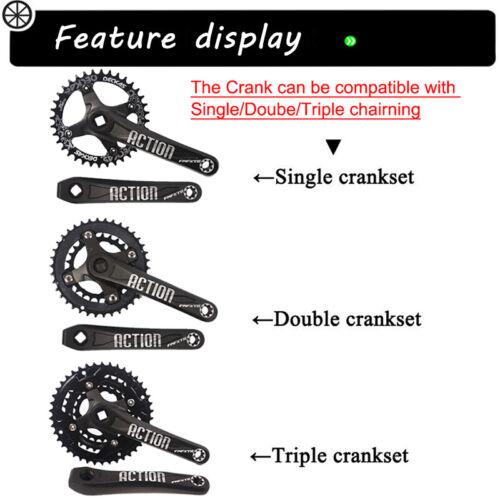 104BCD 170mm Crank MTB Road Bike 30-42T Narrow Wide Chainring Crankset Sprocket