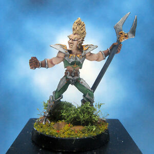 Painted-Ral-Partha-Crucible-Miniature-Elf-Infantry-Champion