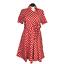 thumbnail 1 - Retro Women 24W Surplice Fit Flare Polka Dot Dress Red SS Full Skirt Rockabilly