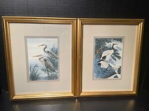Vintage-Anton-Wang-Artist-Limited-Edition-Signed-and-Numbered-Crane-Art