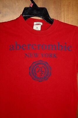 Abercrombie Red 100% Cotton Graphic Short Sleeve T-shirt Size Small