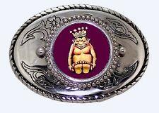 ROJ Mirth is King Billiken Lucky Charm Masonic Fraternal Shriner Belt Buckle USA
