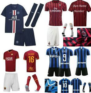 19//20 Kids Adult Football Full Kit Youth Jersey Strips Soccer Team Sports Outfit