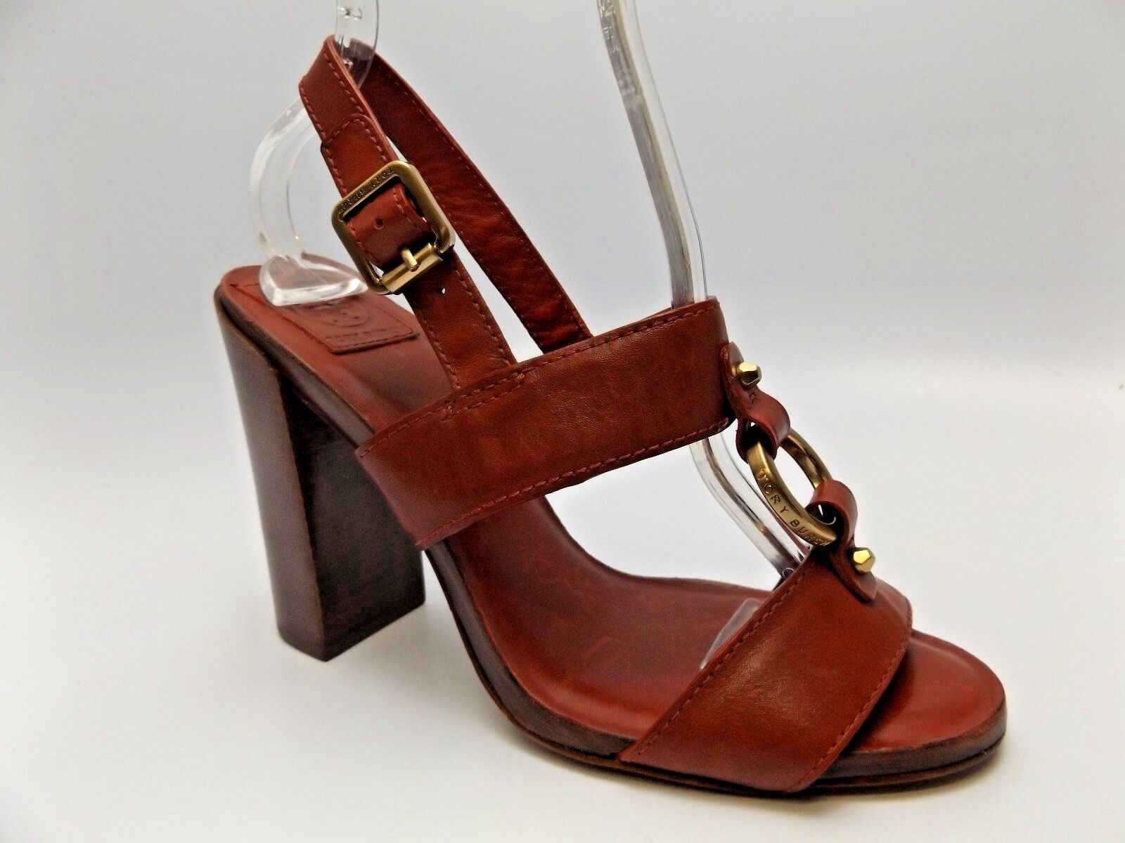 Donna TORY slingback BURCH FLETCHER red leather slingback TORY sandals heels SZ 9.0 M NEW 2858 db7e7f
