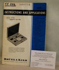 Bruel /& Kjaer 4220 Pistonphone Calibrator Operating /& Service Manual
