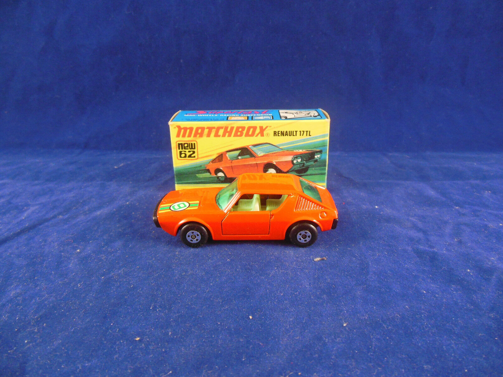 Scarce Matchbox Superfast MB - 62 c Renault 17TL in orange Racing no. 9