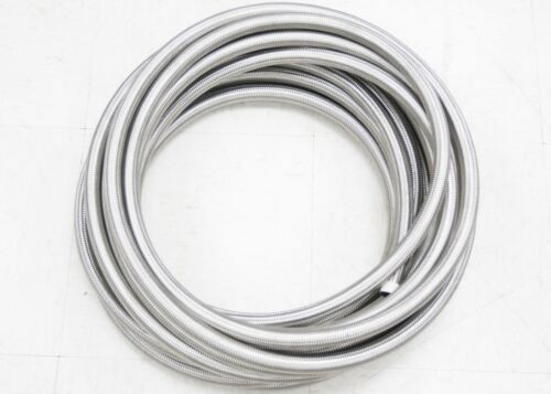 AN-4 AN4 Stainless Steel Braided Fuel Line Oil Gas Hose 1M 3FT