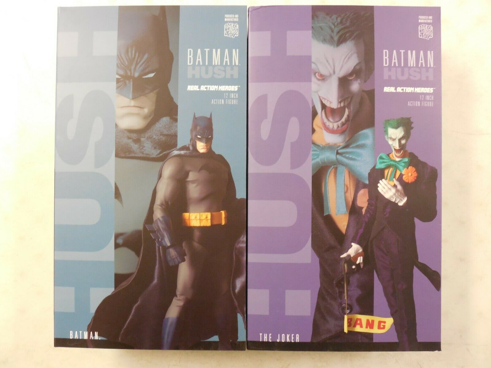 JIM LEE Medicom BATMAN &  JOKER HUSH 12  Action Figure Set  MINT SEALED in BOX