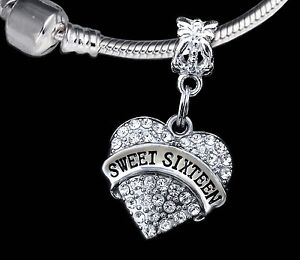 Details About Sweet 16 Charm Huge Only Six Birthday Gift Best Jewelry