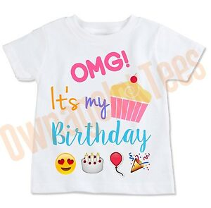 Image Is Loading OMG Emoji Birthday T Shirt Party Outfit ALL