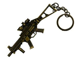 UMP9-gun-Rifle-Key-Chain-Army-Weapon-Keyring-Prop-Key-Ring-Military-gift
