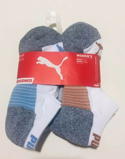 Womens puma athletic low cut sock 6 pairs sock size 9-11 shoe size 5-9.5