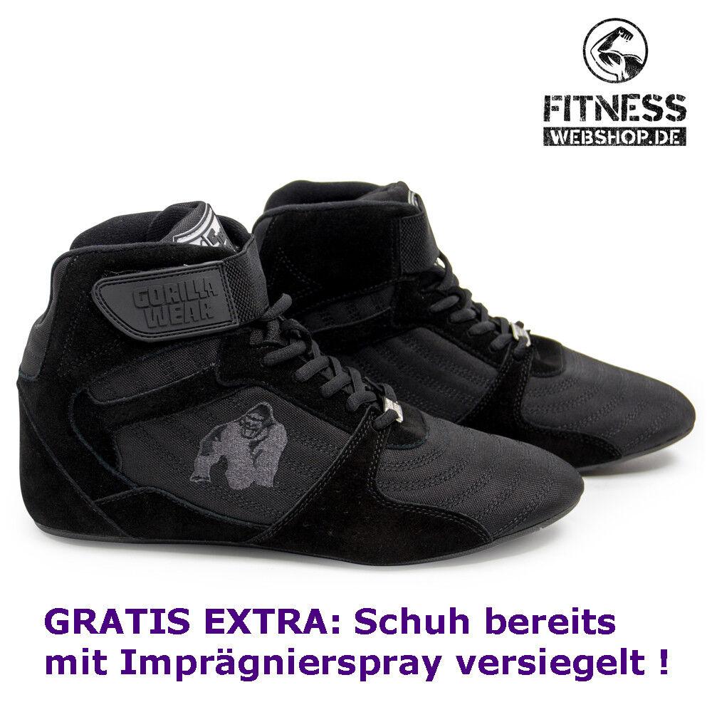 Gorilla Wear Perry High Tops pro negro negro fitness musculación zapatos de deporte