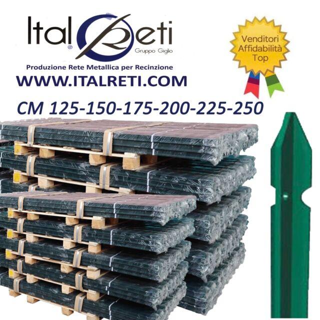 PALETTI PER RECINZIONE PLASTIFICATI ALTEZZA CM 125-150-175-200-225-250 RETE RECI