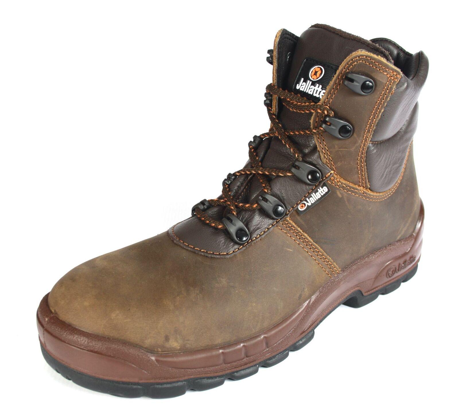 JALLATTE jalloki BROWN S3 Lavoro LEATHER Toecap e intersuola Sicurezza Lavoro S3 Stivali 196ed1