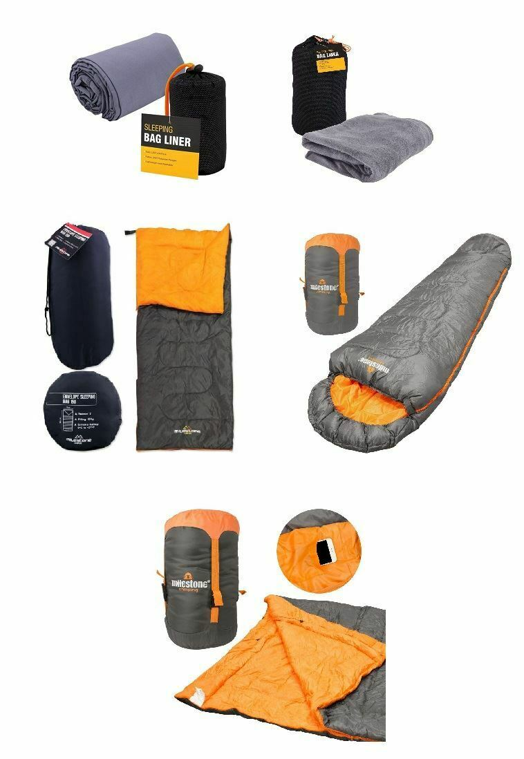 New Sleeping Bag Waterproof Single Double Mummy Camping Hiking Outdoor Envelope