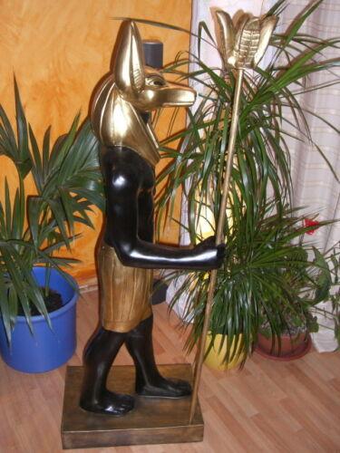 Gott der Toten Anubis 139cm Pharao Ramses Ägyptische Figuren Nofretete Rar