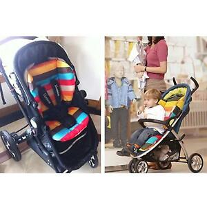 Baby Infant Stroller Cushion Striped Car Seat Liner Pad