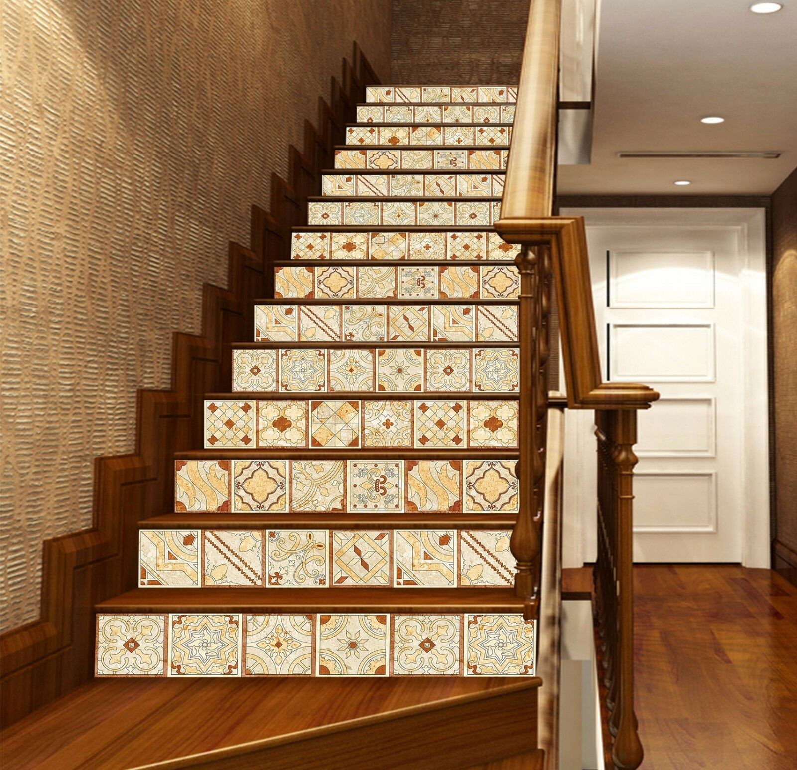 3D Flower 427 Stair Risers Decoration Photo Mural Vinyl Decal Wallpaper UK Lemon