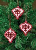 Hardanger Ornaments Kit - White & Red 01-6620 - Permin Of Copenhagen