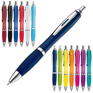 Transparente-Druckkugelschreiber-im-Set-mit-10-20-50-100-500-Stueck-14-Farben