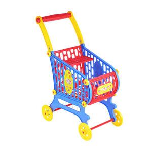 Kinder-Kaufladen-Einkaufswagen-mit-Rollraedern-Spielzeug-Geschenke-fuer-Kinder