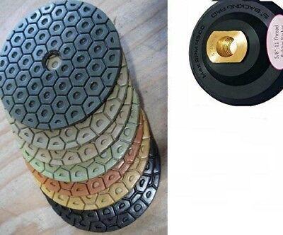 "4/"" Diamond Resin Polishing 38 Pad Stone Granite Terrazzo Countertop Floor slabs"
