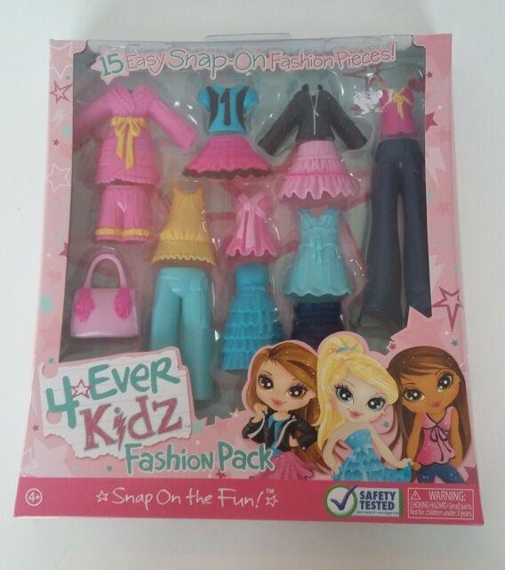 Set of 4 Different BRATZ KIDZ Fashion Clothes Outfits NEW!