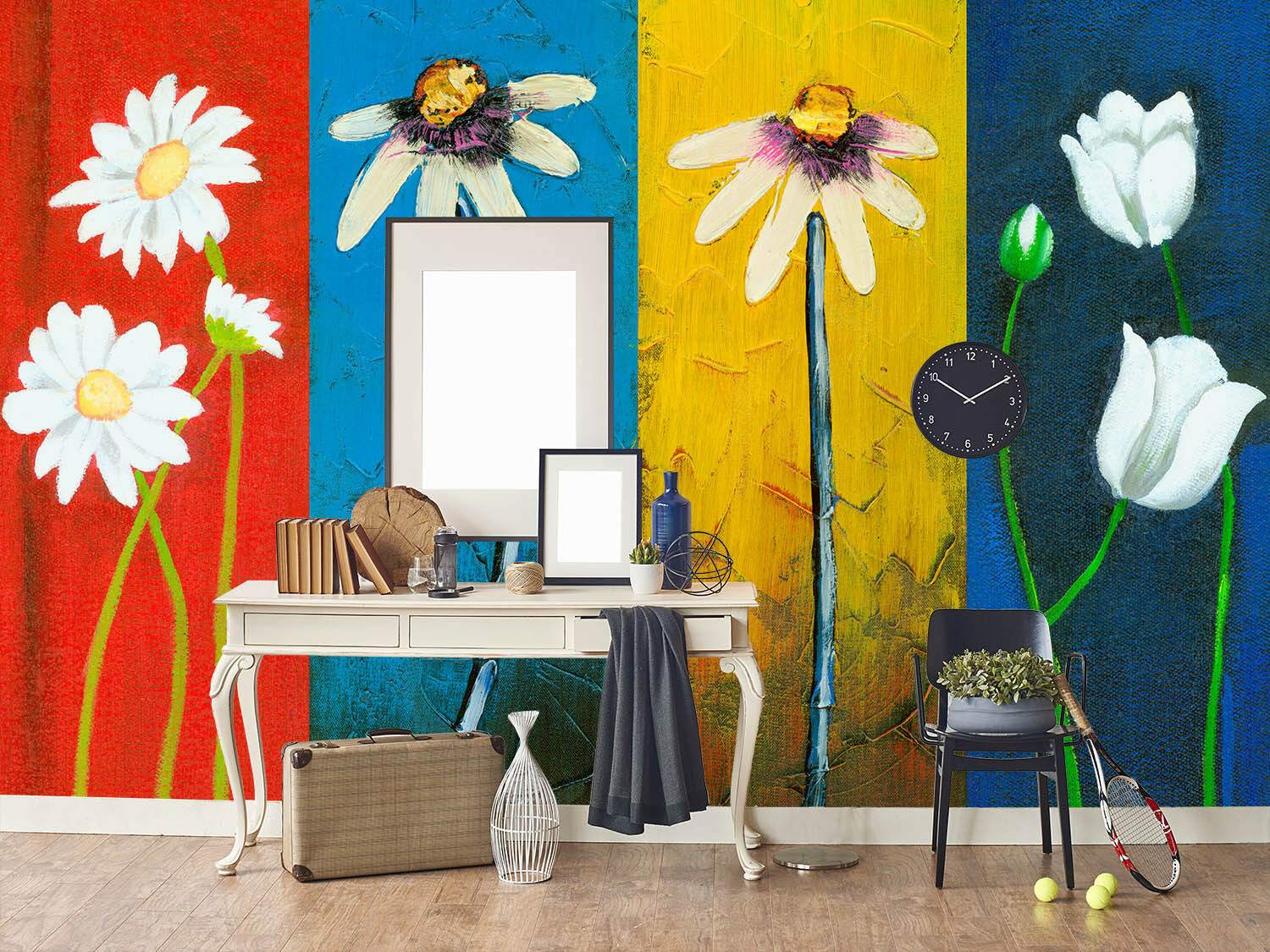 3D Farbeed Flowers 8 Wall Paper Murals Wall Print Wall Wallpaper Mural AU Kyra