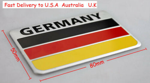 German Flag 3D Metal Car Auto Truck Door Fender Bumper Sticker Emblem Badge