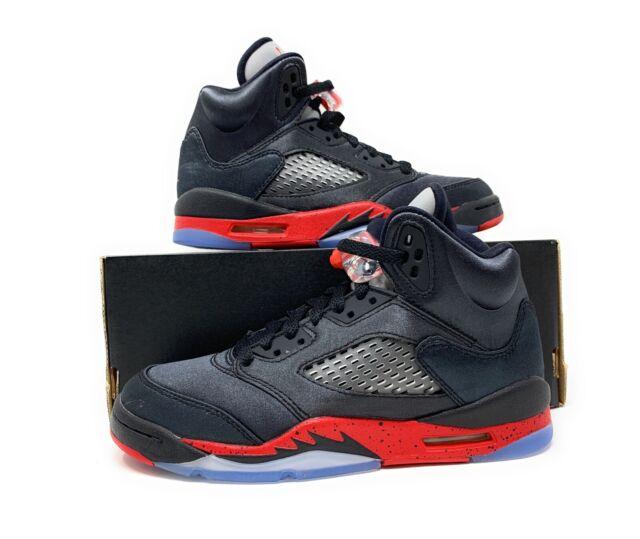 Nike Air Jordan 5 Retro GS Satin Bred 440888-006 Youth Size 6y