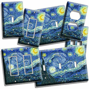 Details About Van Gogh Starry Night Sky Painting Light Switch Outlet Wall Plate Fine Art Cover