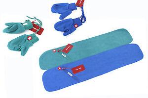 KIK KID Kinder Fleece Handschuhe Schal Gr 1-2 Baby Fäustlige Herbst/Winter NEU