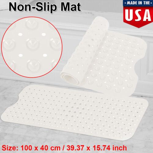 Non Slip Bath Mat Shower Floor Anti Tub Bathtub Suction Large Bathroom Safety
