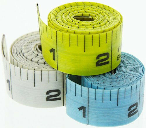 """2pc 60/"""" 150 cm en PVC Souple Tissu Ruban à Mesurer Règle Double Face SAE /& Métrique #MT9R"""