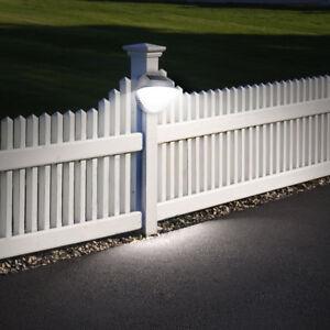 Design Led Deko Wand Garten Zaun Aussen Leuchte Grau Veranda Terrasse