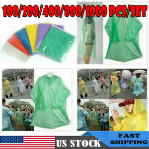Disposable-Adult-Emergency-Waterproof-Rain-Coat-Poncho-Hiking-Camping-w-Hood-w