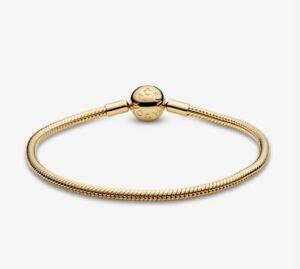 Pandora Moments Snake Chain Bracelet 18k Gold Plate Sterling ...